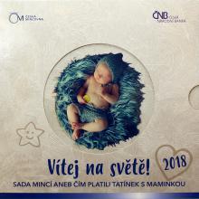 Sada obehových mincí Narodenie dieťaťa 2018 Štandard