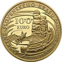 Zlatá mince Světové přírodně dědictví - Jeskyně Slovenského krasu 2017 Proof