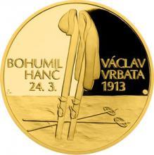Zlatá čtvrtuncová medaile Příběhy naší historie - Hanč a Vrbata 2018 Proof