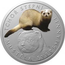 Stříbrná mince Ohrožená příroda - Tchoř stepní 2018 Proof