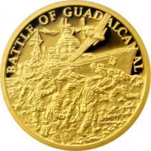 Zlatá mince Válečný rok 1943 - Bitva o Guadalcanal 2018 Proof