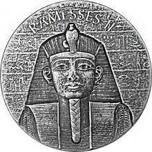 Stříbrná investiční mince Ramesse II 2 Oz 2017