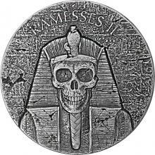 Stříbrná investiční mince Ramesse II - po životě 2 Oz 2017