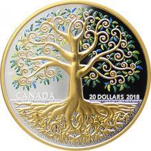 Stříbrná mince Strom života 1 Oz 2018 Proof