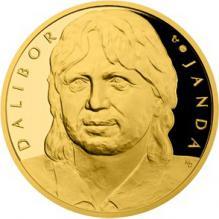 Zlatá půluncová medaile Dalibor Janda 2018 číslováno Proof