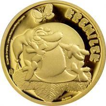Zlatá mince Pohádky z mechu a kapradí - Křemílek 2018 Proof