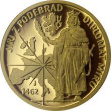Zlatá mince Doba Jiřího z Poděbrad - Diplomat míru 2018 Proof