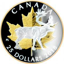 Stříbrná mince 1 Oz Karibu - Timeless Icons 2018 Piedfort Proof