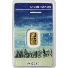 1g Argor Heraeus Following Nature - Zima 2017/18 investiční zlatý slitek