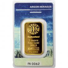 31,1g Argor Heraeus Following Nature - Zima 2017/18 investiční zlatý slitek