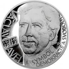 Stříbrná medaile Českoslovenští prezidenti - Václav Havel 2018 Proof