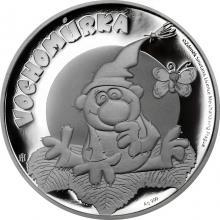 Stříbrná mince Pohádky z mechu a kapradí - Vochomůrka 2018 Proof
