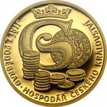 Zlatá minca Doba Jiřího z Poděbrad - Hospodár Českého kráľovstva 2018 Proof