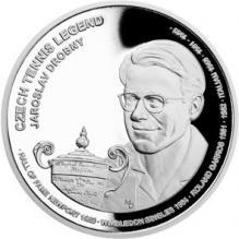 Stříbrná mince České tenisové legendy - Jaroslav Drobný 2018 Proof