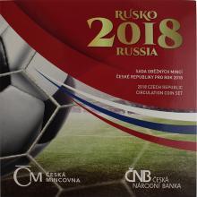 Sada obehových mincí 2018 MS vo fobale Rusko 2018 Štandard
