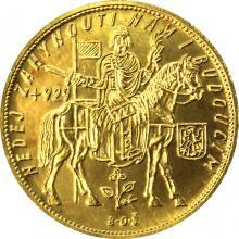 Zlatá mince Svatý Václav Pětidukát Československý 1932