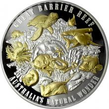 Stříbrná mince 5 Oz Great Barrier Reef 2018 Proof