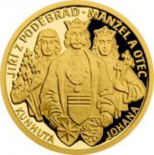 Zlatá mince Doba Jiřího z Poděbrad - Manžel a otec 2018 Proof