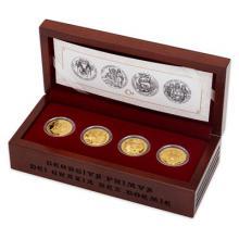 Sada čtyř zlatých mincí Doba Jiřího z Poděbrad 2018 Proof