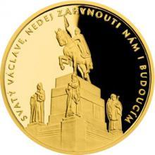 Zlatá uncová medaile Příběhy naší historie - Svatý Václav 2018 Proof