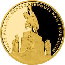 Zlatá čtvrtuncová medaile Příběhy naší historie - Svatý Václav 2018 Proof