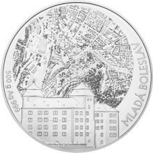 Stříbrná půlkilová investiční medaile Statutární město Mladá Boleslav 2018 Standard