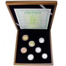 Sada oběžných mincí - dřevěná etue 2018 Proof