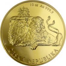 Zlatá desetiuncová investičná minca Český lev 2018 Štandard