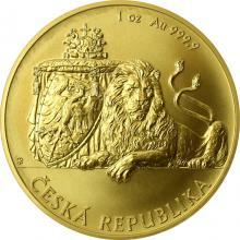 Zlatá uncová investiční mince Český lev 2018 Standard