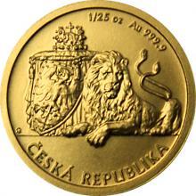 Zlatá 1/25 oz investičná minca Český lev 2018 očíslované Štandard