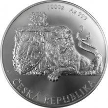 Stříbrná kilogramová investiční mince Český lev 2018 Standard