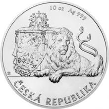 Stříbrná desetiuncová investiční mince Český lev 2018 Standard