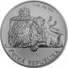 Stříbrná uncová investiční mince Český lev 2018 Standard