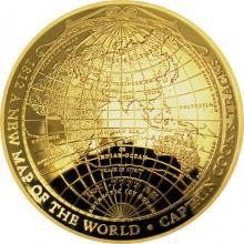 Zlatá minca 1812 - Nová mapa sveta 2018 Proof