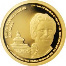 Zlatá čtvrtuncová minca České tenisové legendy - Jan Kodeš 2018 Proof