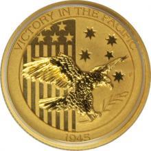 Zlatá investiční mince Victory in the Pacific 1/4 Oz 2017