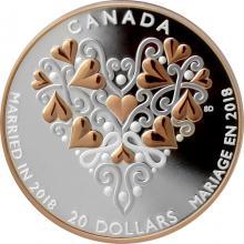 Stříbrná mince Svatba 2018 Proof