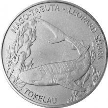 Stříbrná investiční mince Žralok leopardí Tokelau 1 Oz 2018