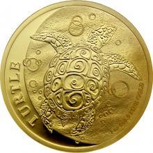 Zlatá investičná minca Niue Taku Hawksbill Turtle - Kariet pravá 1 Oz