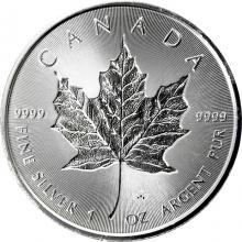 Strieborná investičná minca Maple Leaf 1 Oz - Incuse 2018