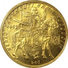 Zlatá minca Svätý Václav Desaťdukát Československý 1933