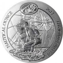 Strieborná investičná minca Santa Maria - Nautical Ounce 1 Oz 2017