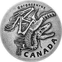 Strieborná minca Gorgosaurus 1 Oz 2018 Antique Standard