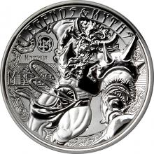 Strieborná minca 2 Oz Minotaur Legends And Myths 2018 Proof