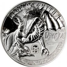 Strieborná minca 2 Oz Dragon Legends And Myths 2018 Proof