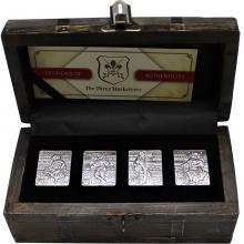 Sada čtyř stříbrných mincí Tři mušketýři 2018 Antique Standard