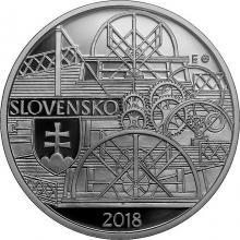 Strieborná minca Plavba prvého parníka na Dunaji v Bratislave – 200. výročie 2018 Proof