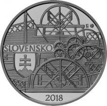 Strieborná minca Plavba prvého parníka na Dunaji v Bratislave – 200. výročie 2018 Standard