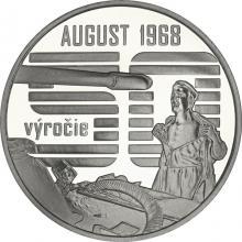 Stříbrná mince Nenásilný odpor občanů proti vstupu vojsk Varšavské smlouvy 2018 Proof