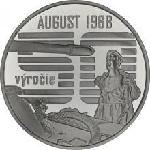 Stříbrná mince Nenásilný odpor občanů proti vstupu vojsk Varšavské smlouvy 2018 Standard
